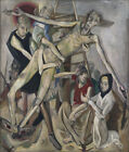 Art Fabric HD Print Oil Painting Max Beckmann The Descent from the Cross Decor