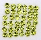 CERTIFIED NATURAL PERIDOT 3 MM ROUND CUT GREEN FACETED LOOSE GEMSTONE LOT