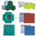 6 Style Square Garden Path Concrete Plastic Brick Mold Paving Pavement Walkway ! image