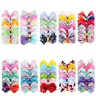 5in 6Pcs Jojo Siwa Bows Hair Clip Grosgrain Medium Ribbon Hair Bows Jojo Bows