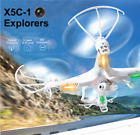 Syma X5C-1 Explorers RC Drone 2.4Ghz 6-Axis Gyro Camera Quadcopter+5 Batteries