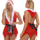 Christmas Nightwear Women Lady Sexy Lingerie Dress Babydoll Outfit New Year Gift