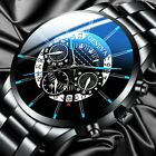 Luxury Men Watch Business Stainless Steel Date Sport Analog Quartz Wrist Watch image