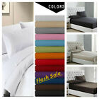 "1900 Count Series Fitted Bed Sheet Set  14"" Deep Pocket  Fitted Flat Bed Sheets image"