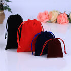 10pc Solid Packing Drawstring Velvet Pouch Sachet Gift Bag Rope Jewelry Storage