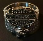 Harley Davidson Bald Eagle w/ Classic Shield  Stainless Steel Ring Fast shipping $18.0 USD on eBay