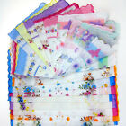 Kyпить Lot 5-30Pcs Lady Child 100% Cotton Flower Vintage Handkerchiefs Quadrate Hankies на еВаy.соm
