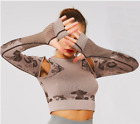 Camouflage Yoga Top seamless tight long sleeve fitness clothes women's Yoga Top
