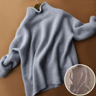 Women Knitted Turtleneck Sweater Ladies Soft Cashmere Blend Jumper Pullover Tops