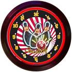 Neon BOWLING Wall Clock NOT LED Kitchen Game Room 38cm Diameter Neonetics 8BOWLX