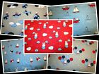 MIFFY TRAVEL - CUTE BUNNY RABBIT 100% COTTON PATCHWORK QUILT FABRIC