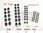 EYES STICKERS 3D OJOS MODEL #O5 AUTOADHESIVOS,PORCELAIN,CLAY,FOAM flexyble clay  image