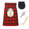 More images of 4 Piece Kilt Package with Pin Hose and Sporran - Sizes 30-44 - Wallace Tartan
