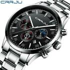 2019 Fashion Design Watches for Men Top Brand CRRJU Sport Watch Stainless Steel