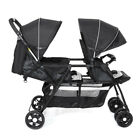 Foldable 2 in1 Double Seat Baby Stroller Lightweight Front&Back 2Seats Pushchair