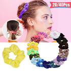 20/40PCS Women Girl Hair Scrunchies Velvet Elastic Hair Bands Scrunchy Rope Ties