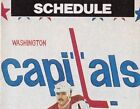 1970's to 2000's NHL Washington Capitals Hockey Schedule - U-Pick From List $2.95 CAD on eBay
