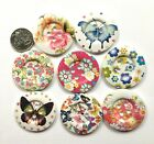 BB 50mm HUGE ROUND BUTTONS pack of 4 OR 5 wood craft sewing choice of designs
