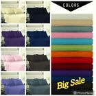 4 Peice Fitted Bed Sheet Set Deep Pocket Pillows and Flat Hotel Quality Bargain  image