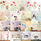 Diy Flowers Wall Sticker Decal Vinyl Art Mural Home Decor Removable Multi Styles