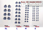 EYES STICKERS 3D OJOS MODEL#O13  AUTOADHESIVOS,PORCELAIN,CLAY,FOAM flexyble clay image