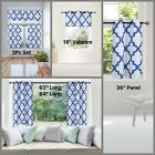 WINDOW LINED CURTAIN FAUX SILK BLACKOUT GEOMETRIC THERMAL CHROME GROMMET