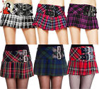 HELL BUNNY CHELSY MINI SKIRT chesley TARTAN kilt CHECK micro punk