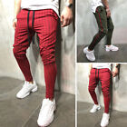 Mens Tracksuit Sport Gym Slim Fit Skinny Jogging Workout Sweat Pants Trousers