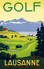 Golf - Lausanne, Switzerland - 1936 - Travel Poster