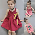 Toddler Kids Baby Girl Plaid Dress Party Pageant Summer Beach Sundress Clothes