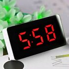 Dual USB LCD Digital LED Clock Snooze Mirror Alarm Clock Time Night Mode Large