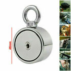 500kg Double Sided Round Recovery Salvage Neodymium Fishing Magnet + 10M Rope UK