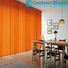 MAKE TO MEASURE  VERTICAL LOUVRE BLINDS COMPLETE  WITH HEADRAIL OVER 60 COLOURS