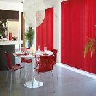 MAKE TO MEASURE  RED VERTICAL LOUVRE BLINDS  WITH HEADRAIL. OVER 60 COLOURS