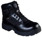SKECHERS 77522/BLK WASCANA - LINNEAN Mn's (M) Black Leather Work Boots
