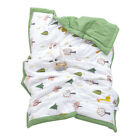 2-3yrs Baby Soft Warm Nap Blanket Double-sided Sleeping Quilt for Kid Boys Girls