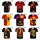 DC the flash 3D printing T shirt Breathable tops Short sleeve for kids and adult