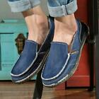 Casual Men's Canvas Loafers Antiskid Breathable Shoes Driving Slip on Moccasins