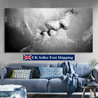 Black & White Love Kiss Abstract Art Canvas Painting Wall Print Picture Decor GB