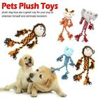 Pet Dog Puppy Squeaky Chew Plush Toys Cotton Rope Toy Fun Frog Monkey S5F1