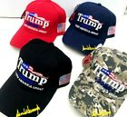 """""""Trump 45 2020 Keep America Great"""" Puff Embroidered Hat Signature on Bill New!"""