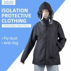 Reusable Washable Protective Suit Isolation Clothing Jacket Hat With Cover Wear