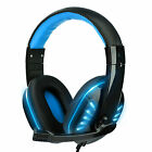 3.5mm Wired Gaming Headset Headphone Mic Stereo For Xbox One PS5 Nintendo Switch