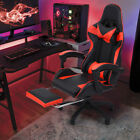 Gaming Chair Reclining Racing Office Chair with Lumbar Support Red/Blue Adjustab