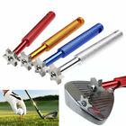 Golf Club Groove Sharpener Iron Regrooving Cleaner Tool 6-Heads Wedge Cleaning