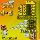 FixedPricenook miles tickets / bells + fish bait + gifts  fast deliveryy !