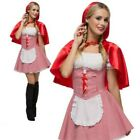 Red Riding Hood Costume Womens Ladies Fairytale Book Week Fancy Dress Outfit