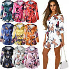 Womens Summer Maxi Floral Dress Ladies Holiday Casual Beach Midi Swing Dresses