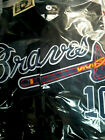 New Atlanta Braves #10 Chipper Jones Throwback w/2patches sewn BLACK Jersey HOF on Ebay