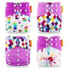 Happy Flute Cloth Diaper 4 Pieces with inserts